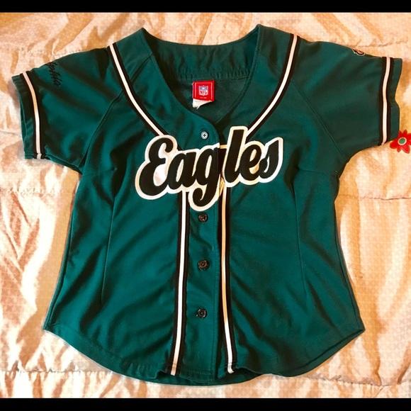 brand new d0c1c 2640d Philadelphia Eagles baseball jersey women's